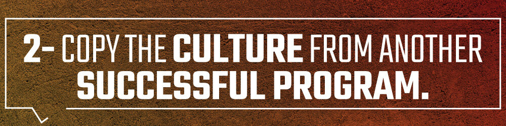 2. Copy the culture from another successful program.