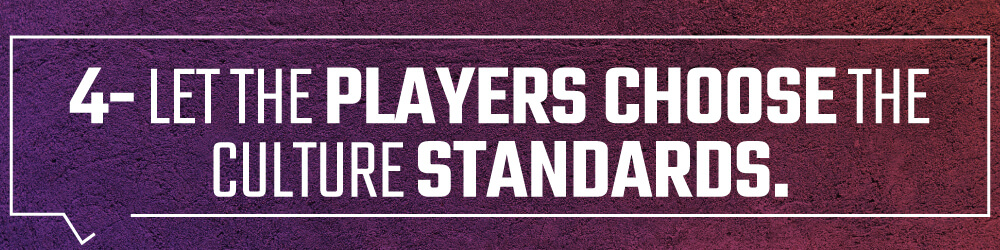4. Let the players choose the culture standards.